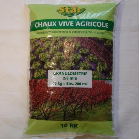 Chaux vive agricole,10 kg, Star Jardin