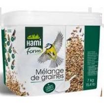 Mélange de graines pour oiseaux d'extérieur seau de 7 kg
